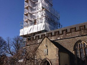 St James the Apostle Church, King's Nympton - Re-cladding of Spire